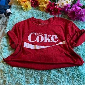 Tops - 5 for 20❗️❗️ vintage Coca Cola  crop top